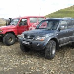 Our jeeps in Landmannalaugar